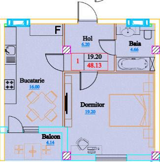 Ciocana str. Mircea Cel Bătrîn! Apartament cu 1 cameră variantă albă!
