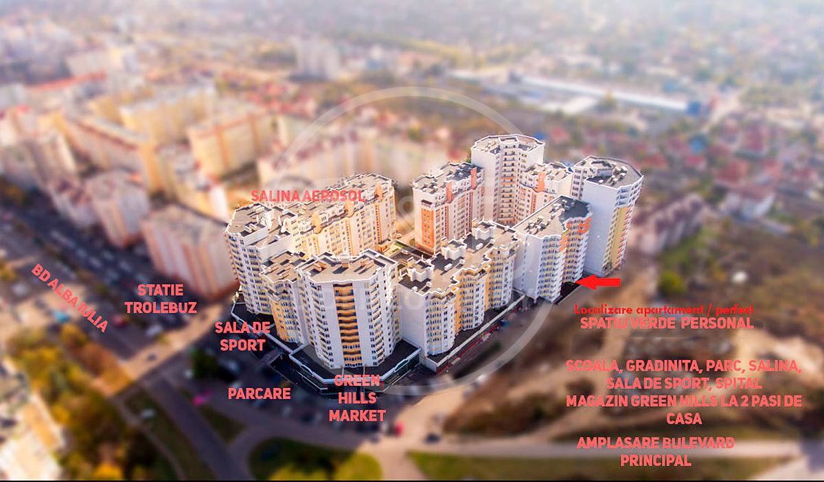 Apartament cu 1 cameră suprafață generoasă 54 m2 euro reparat Buiucani