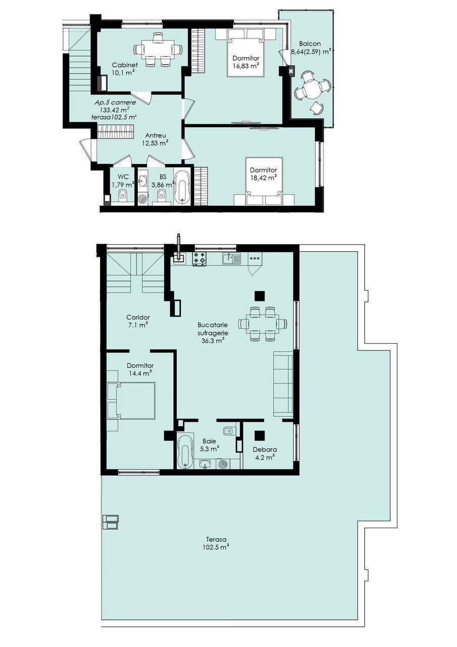 Telecentru !!! Penthouse suprafața 176,5  mp !