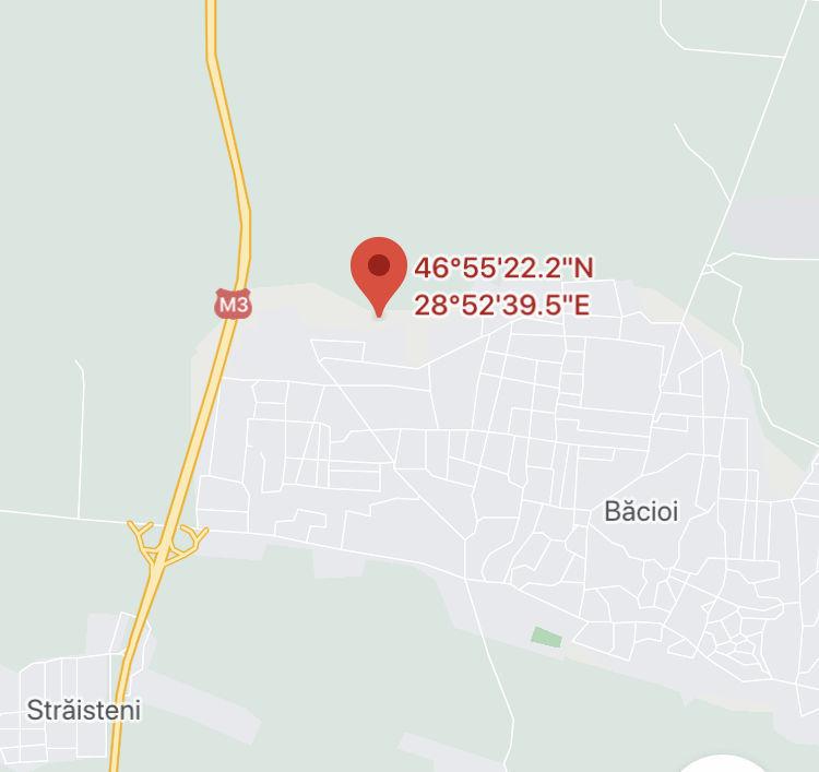 Băcioi vânzare lot de pământ cu suprafața de 11 ari 818 euro arul