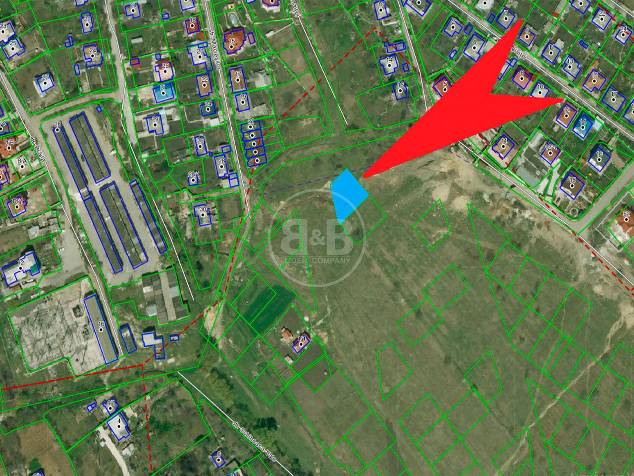Lot de pământ amplasat în sectorul Telecentru str. Măcieșilor 6 ari potrivit pentru construcție