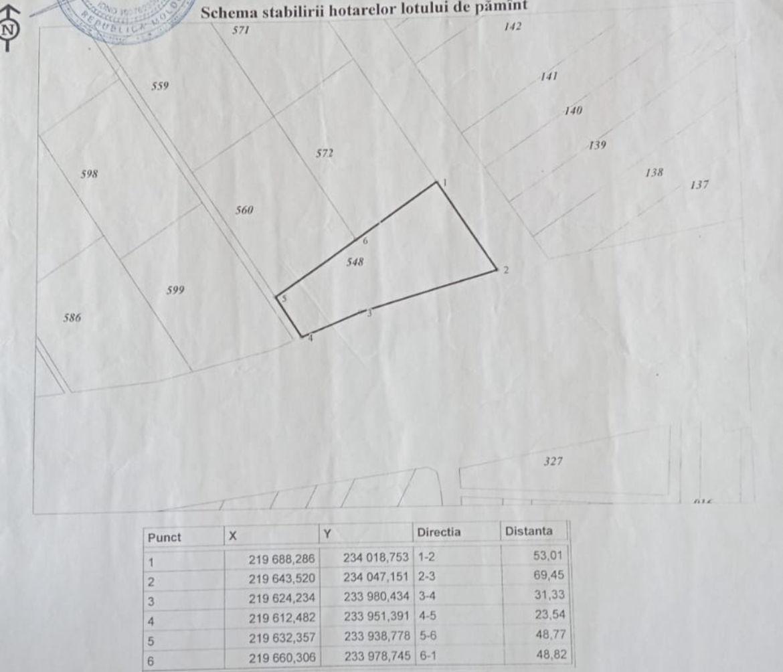 Se vinde lot de pământ cu suprafața de 37 ari AGRICOL în Grătiești