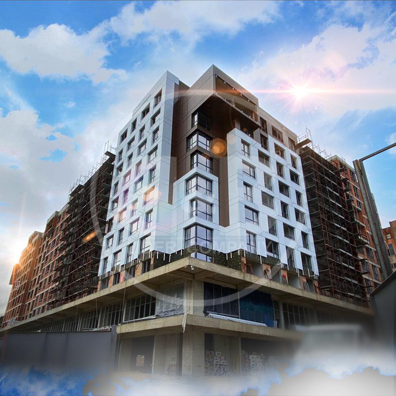 Apartament cu 1 cameră + Living, Buiucani Alpha Residence! Bloc Nou !