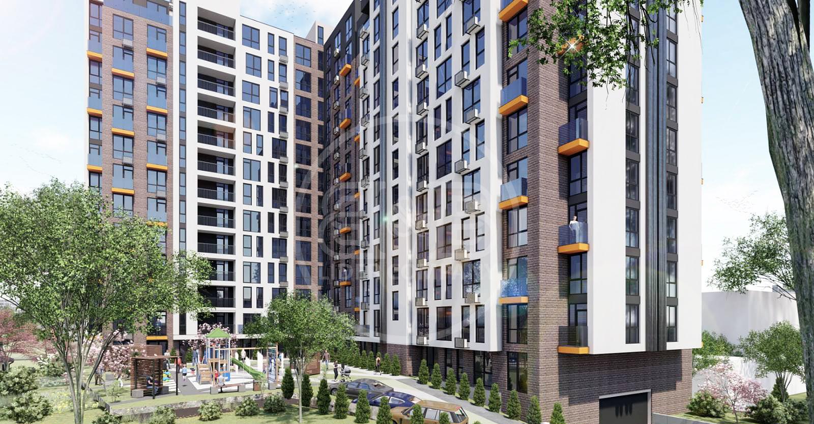 Râșcani str. Andrei Doga apartament cu 43,8 m2 bloc nou