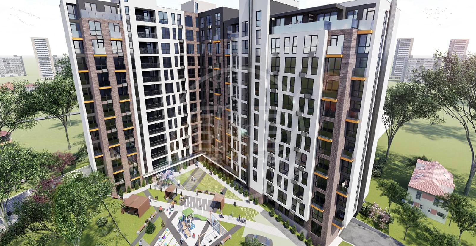 Vis-a-vis Circ apartament 2 camere separate variantă alba str. Andrei Doga