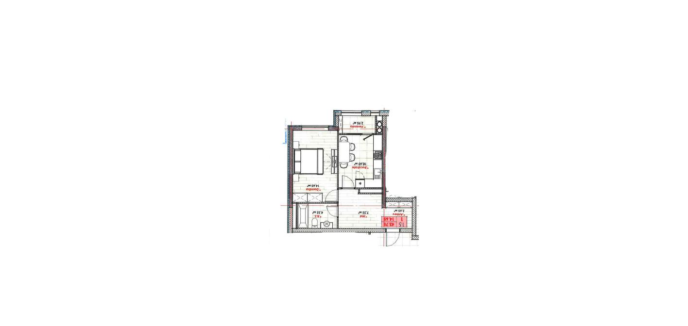 Spre vânzare apartament cu 1 cameră 43 m2 variantă alba bloc nou variantă albă str. A. Doga