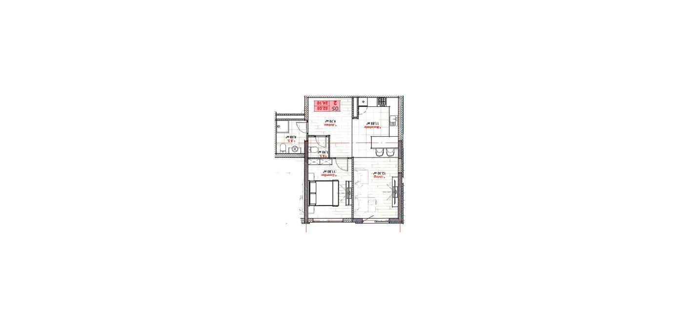 Lagmar! str. A. Doga, Râșcani, 52 m2 varianta albă bloc nou