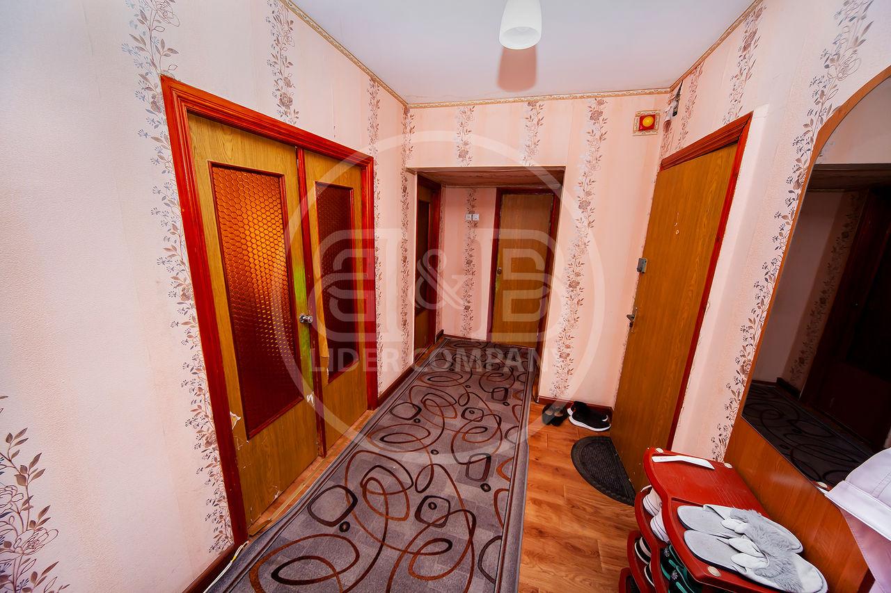 Buiucani, 3 camere 59 m2 Flacara Mobilat reparat str. Piața Unirii Principatelor,