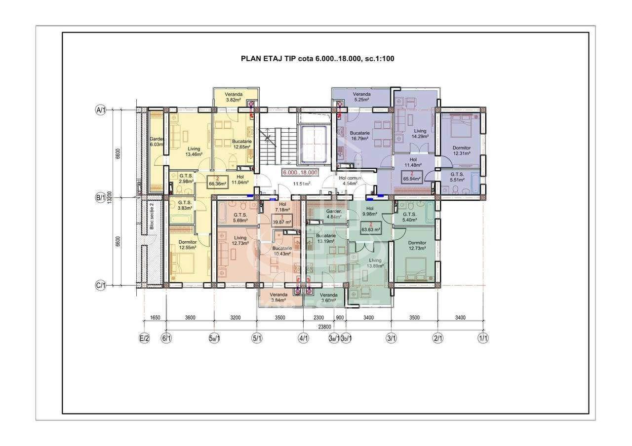 Se vinde apartament varianta albă 76,7m2! Dumbrava !