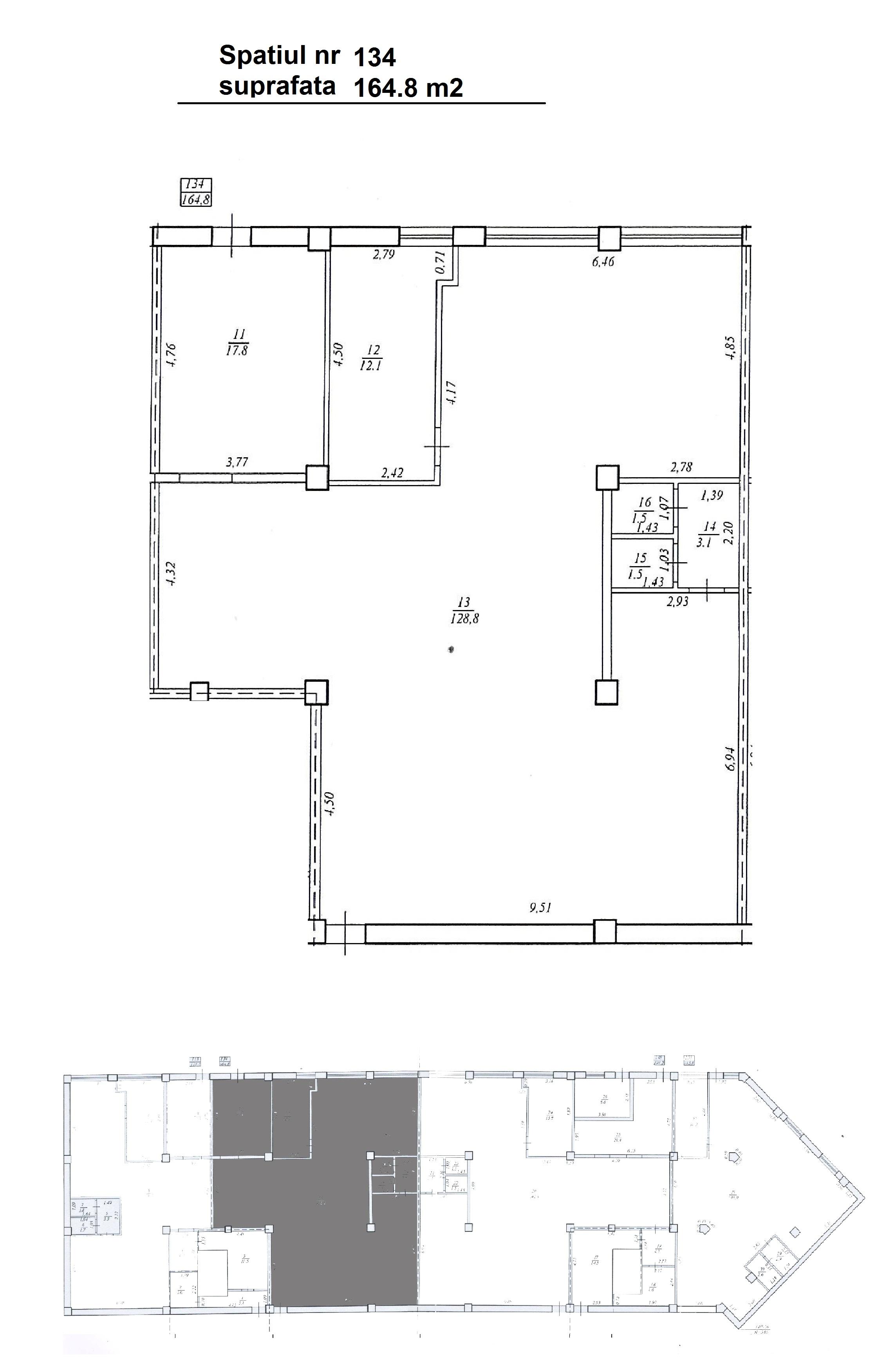 Spațiu Comercial 164,8m2! Ciocana, str. Ginta Latină. 550 euro/m2