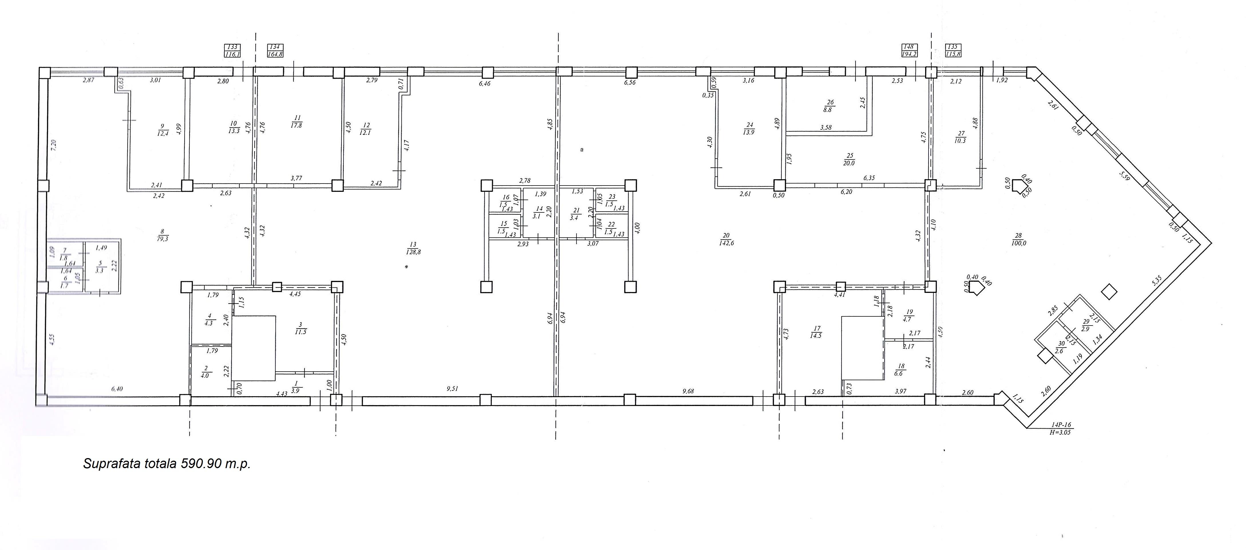 Prima linie str. Ginta Latină suprafață generoasă 8857,3 m2