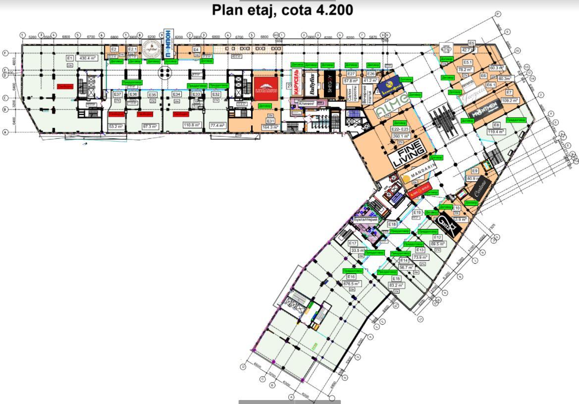 Chirie Spațiu comercial cu 53 m2 variantă albă str. Bogdan Voievod