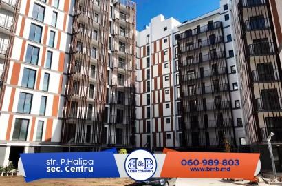 Centru, str. Pan Halippa, apartament cu 3 camere, 102 m.p, 900€/ m2 direct de la dezvoltator