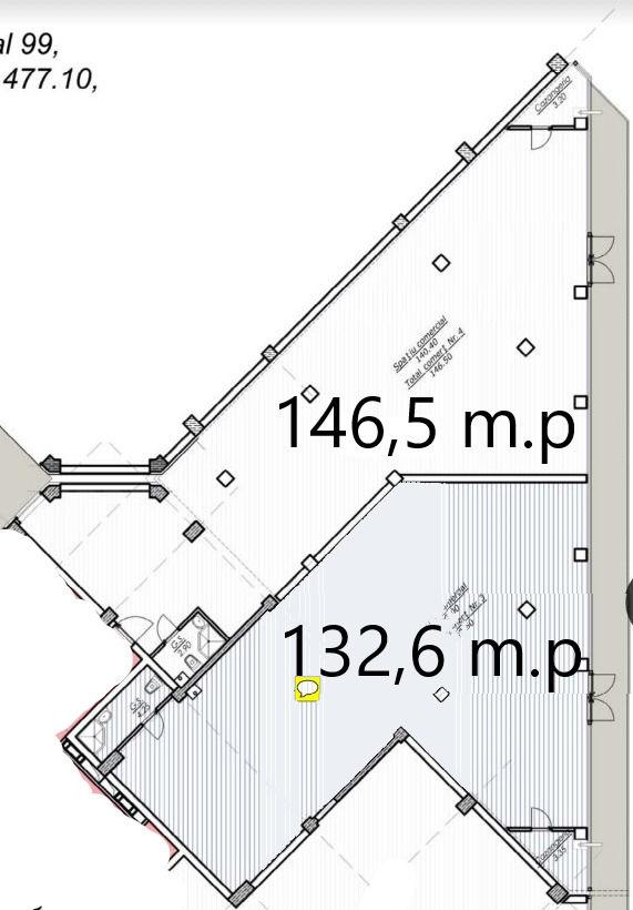 Spațiu comercial în sectorul botanica - chirie 132,6 m2 str. decebal