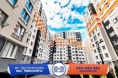 Telecentru ! Apartament cu 2 camere separate 65 m2 str. Sprincenoaia