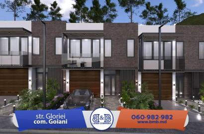 TownHouse !! S.Goianul Nou complex nou cu case de tip townhouse, variantă albă perfectă!!!