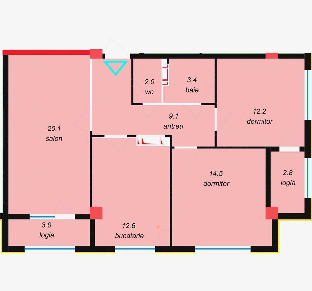 Procura acum apartament cu 3 camere Botanica!