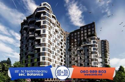 Penthouse 176,8 m2 varianta albă Lagmar str. Nicolae Testemiteanu Botanica